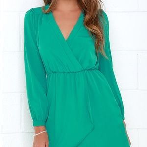 Lulus Green Wrap Dress (Jade Green)